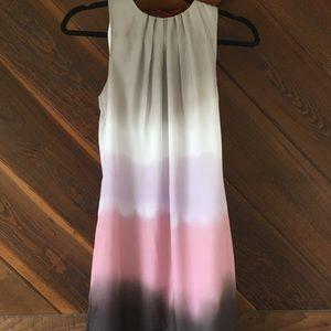 Beautiful ombre sleeveless shift dress